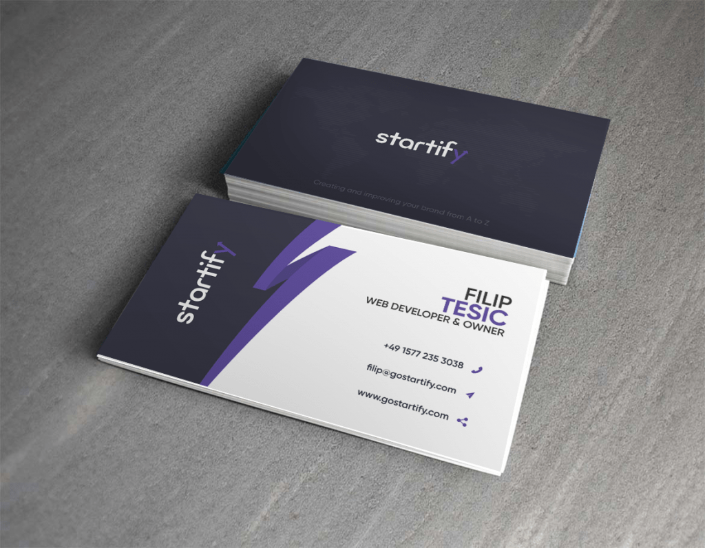 Startify Business Card Design